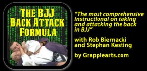 The BJJ Back Attack Formula Thumbnail and Quote