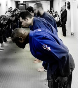 Things to Do When Visiting Another BJJ School - Bowing On Off Mat