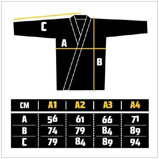 Manto Mens Jiu Jitsu Gi Size Chart