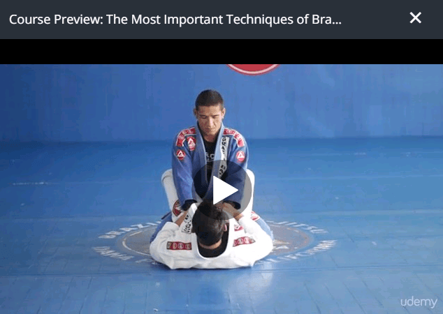 Udemy Course Preview - The Most Important Techniques of Brazilian Jiu Jitsu