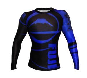 Fuji Freestyle IBJJF Long Sleeve Ranked Rash Guard Blue