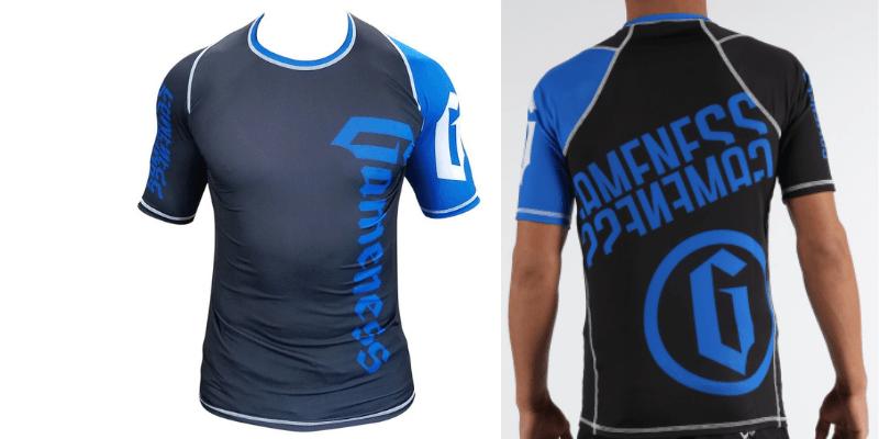 Gameness Pro Ranked Rash Guard Blue Short Sleeve