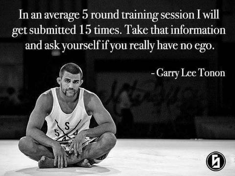 Garry Tonon BJJ Quote About Getting Submitted 15 Times Per 5 Round Training Session