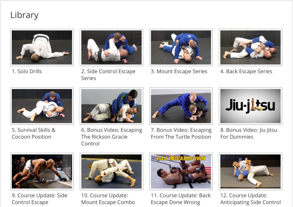 The Ace of Escapes BJJ Online Course Library