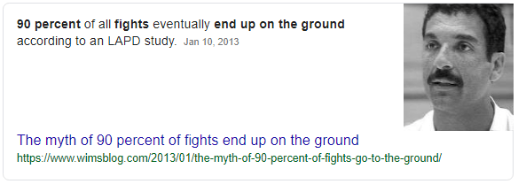 90 Percent of All Fights End Up On The Ground - Myth