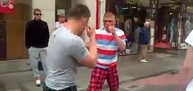 Boxing In Street Fight Protective Stance